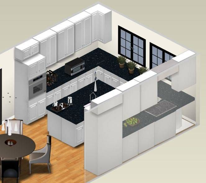 Do i need a kitchen plan or kitchen design our house for Square shaped kitchen designs